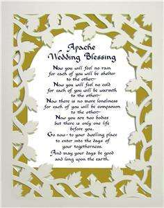 Apache Wedding Blessing Awesome Vine Mat Gift Poem