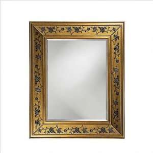 Howard Elliott 51125 Dillard Wall Mirror in Gold and Black