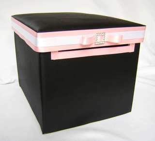 Wedding Black Pink Card Gift Box Guest Book Your Colors