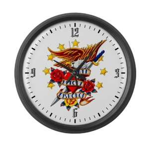 Large Wall Clock Bald Eagle Death Before Dishonor