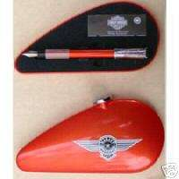 WATERMAN HARLEY DAVIDSON RED FOUNTAIN PEN NEW IN TANK BOX MEDIUM POINT