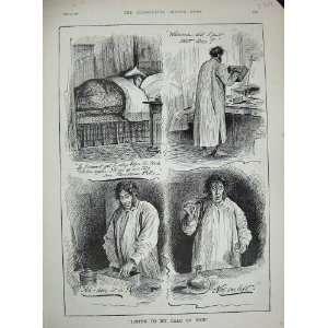 Beechams Pills Man Sleeping Bed Print 1891