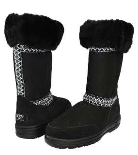 Black Sundance Tall Womens Ugg Australia Suede Boots