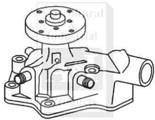description new replacement aftermarket john deere water pump fits the