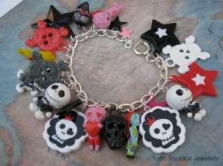 NEW NBX Jack Skellington,Sally,Skulls Charm Bracelet x