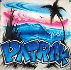 shirt Personalize Airbrush Your Name items in Airbrush Oasis store on
