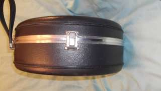 Vintage 50s 60s Pan Am AIRWAY Train Case Hat Wig Box Hard Luggage