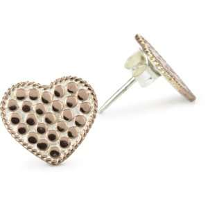 Anna Beck Designs Gili 18k Rz Gold Plated Heart Post Earrings