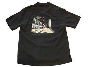 Nat Nast Black Viva Las Vegas Camp Silk Shirt SS S M