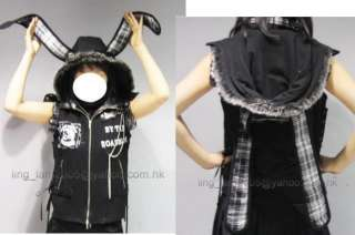 Unisex Japan Visual Kei Punk Lolita Cosplay NANA Vest coat jacket