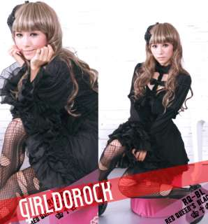 DARK GOTHIC PUNK VISUAL KEI LACE 21035 DRESS OUTFIT M/L