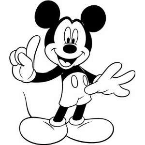 Mickey Mouse Number One Vinyl Decal Sticker Black Vinyl