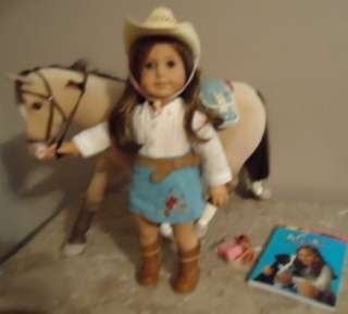 GIRL DOLL RETIRED NICKI NICKIE MEET OUTFIT HORSE JACKSON TACK BOX LOT