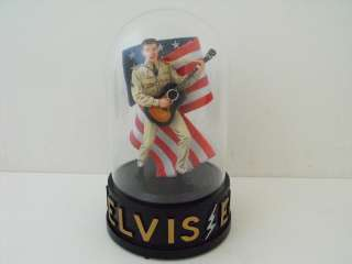 ELVIS PRESLEY music globe FRANKLIN MINT with COA Gi Blues