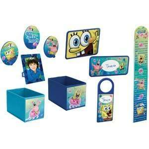 Nickelodeon SpongeBob Squarepants 10 Piece Decor in a Box Giftset