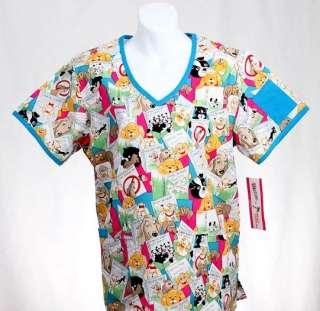 PET CARE Missy Top 2X 2XL 2XLARGE Nursing Nurse Scrubs