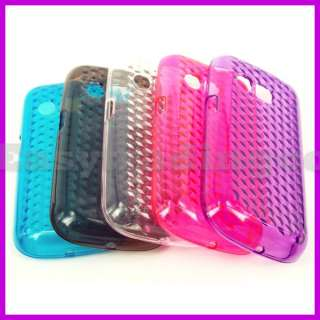 Case Cover for LG Optimus Pro C660 Pink Purple Blue Clear Gray