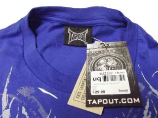 Tapout Darkside UFC MMA Cage fighter Tee New Mens Rich Royal Blue Rare