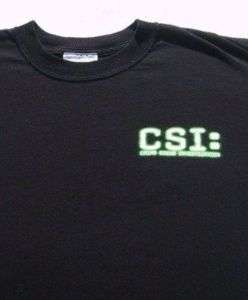 CSI Crime Scene Investigation LARGE T SHIRT las vegas