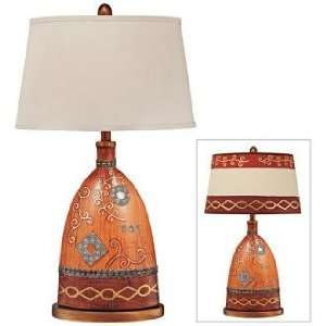 Haney Country Quilt Pattern Ceramic Table Lamp: Home Improvement
