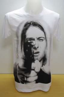 Kurt Cobain Nirvana Grunge Rock Alternativ e T Shirt .