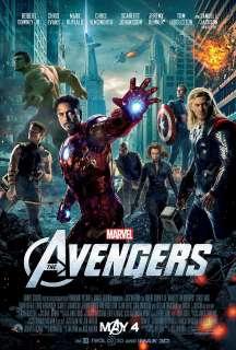 THE AVENGERS Movie Poster Marvel Comics Iron Man Hulk Thor