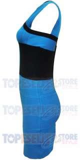 BEYONCE KNOWLES BLUE CAP SLEEVE BANDAGE DRESS XS S M L BODYCON
