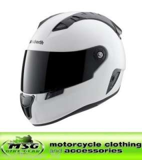 SCHUBERTH SR1 MOTORCYCLE HELMET MATT WHITE MEDIUM