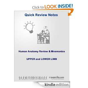 Human Anatomy Review & Mnemonics: Upper and Lower Limb (Quick Review