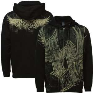 Hostility Black Wings Full Zip Hoody Sweatshirt Sports