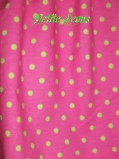 NEW 42X14 Polka Dot Hot Pink Lime Green Curtain Valance