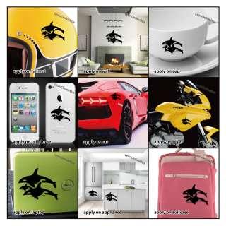Killer Whale Family   Animal Decal Vinyl Car Wall Laptop Cellphone