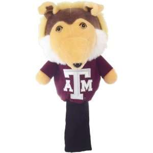 College Licensed Golf Mascot Headcover   TAMU: Sports