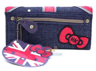 Sanrio Hello Kitty UK Denim Wallet England Flag Lounge Fly 2