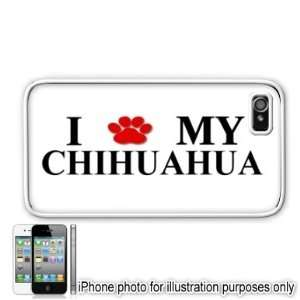 Chihuahua Paw Love Dog Apple iPhone 4 4S Case Cover White