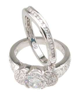 80Ct Engagement Wedding Ring Set New Item!