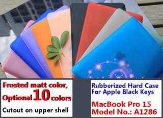 matt GRAY rubberized hard case cover shell housing for MacBook Pro 15