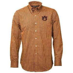Cutter & Buck Auburn Tigers Orange Alumni Check Woven Long