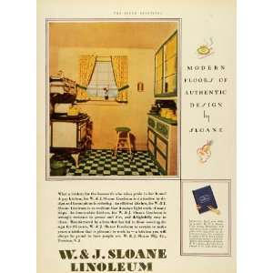 Ad W J Sloane Linoleum Decor Home Design Trenton New Jersey Dudley