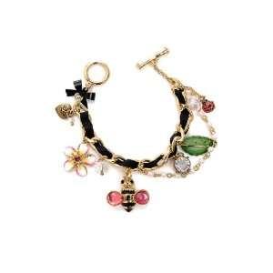 Betsey Johnson Hawaiian Luau Bumblebee Charm Bracelet