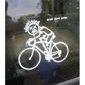Zombie Stick Figure Family Stickers Cyclist Bicycle Rider