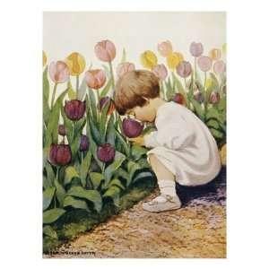 Tulips by Jessie Willcox Smith Giclee Poster Print