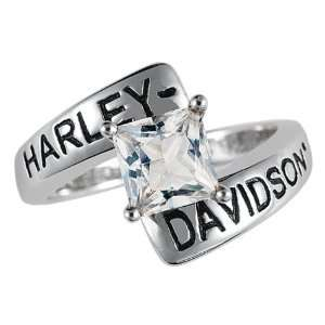 Sterling Silver Harley Davidson Ladies Crossroads Birthstone Ring