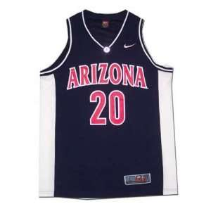 Nike Elite Arizona Wildcats #20 Navy Replica Basketball