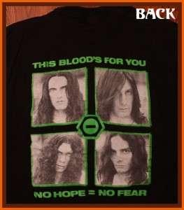 Type O Negative 94 Black No. 1 Rock Concert Tour T Shirt XL