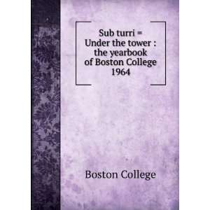 Sub turri = Under the tower : the yearbook of Boston