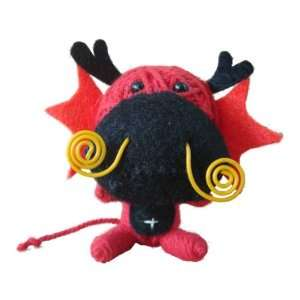 String Voodoo Doll Keychain Dragon Baby Animal Series From