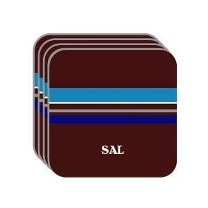 Personal Name Gift   SAL Set of 4 Mini Mousepad Coasters