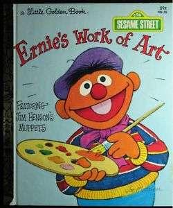 SESAME STREETS ERNIES WORK OF ART LITTLE GOLDEN BOOK