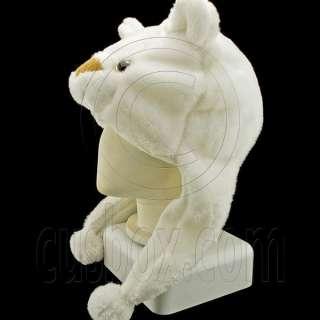White Bear New Mascot Plush Fancy Dress Costume Hat Cap